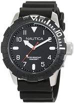 Nautica Men's 'NSR 106' Quartz Stainless Steel and Silicone Casual Watch
