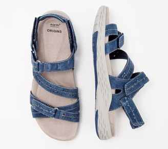 Earth Origins Suede Adjustable Sport Sandals- Westfield Wendy