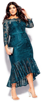City Chic Estella Maxi Dress - emerald