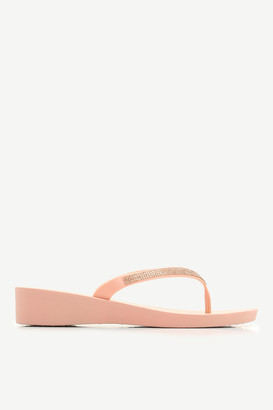 Ardene Gemstone Wedge Flip-Flops