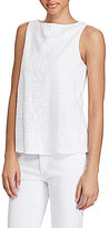 Lauren Ralph Lauren Geometric-Embroidered Tank
