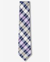 Express narrow bold plaid silk tie