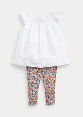 Ralph Lauren Top & Floral Legging Set