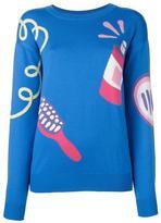 Jeremy Scott crew neck sweater - women - Virgin Wool - M