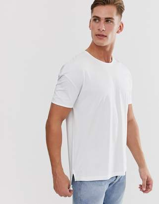 Selected oversize fit t-shirt in white