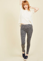 ModCloth Heed Your Warming Fleece-Lined Leggings in Charcoal in L/XL