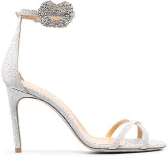 Giannico Cross-Strap Embellished Sandals