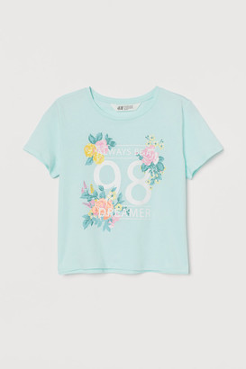 H&M Boxy T-shirt - Green
