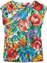 Dolce & Gabbana Printed silk-twill top