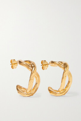 Alighieri The Orbit Of The Writer Gold-plated Hoop Earrings - one size