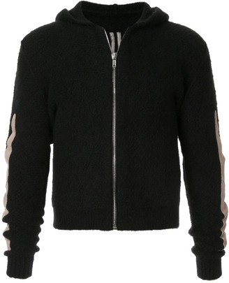 Rick Owens zipped hooded sweatshirt