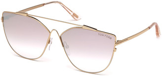 Tom Ford Jacquelyn Metal Aviator Sunglasses