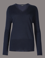 Autograph Modal Blend V-Neck Bubble Sleeve Jumper
