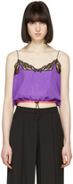 Alexander Wang Purple Cropped Camisole