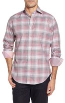 Thomas Dean Men's Regular Fit Check Sport Shirt