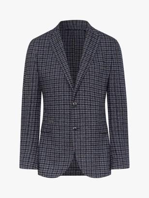 Hackett London Boucle Check Blazer, Grey