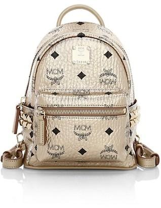MCM Extra Mini Stark Metallic Visetos Backpack