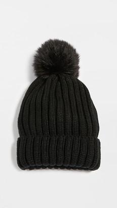 Adrienne Landau Acr.Knit Hat with Pom