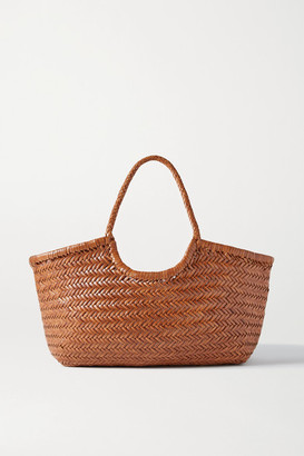 DRAGON DIFFUSION Nantucket Large Woven Leather Tote - Tan