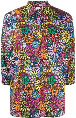 Ultràchic Floral-Print 3/4 Sleeves Shirt