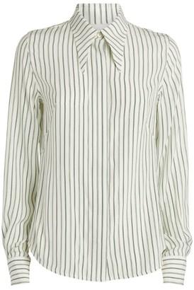 Victoria Beckham Silk Striped Shirt