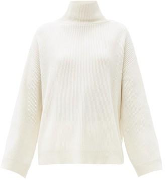 Brunello Cucinelli Ball-chain Trim Cashmere Sweater - White