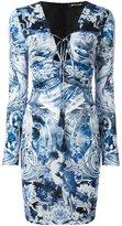 Roberto Cavalli multi-print fitted dress