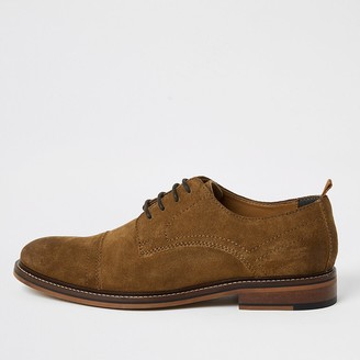 River Island Brown suede lace-up derby shoes