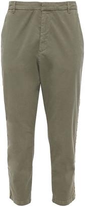 Nili Lotan Cropped Stretch-cotton Twill Tapered Pants