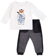 Petit Lem Baby Boys Two-Piece Top and Pants Set