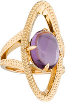 Catherine Malandrino Amethyst Open Link Cocktail Ring