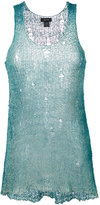 Avant Toi distressed knitted vest - women - Silk/Cotton - XS