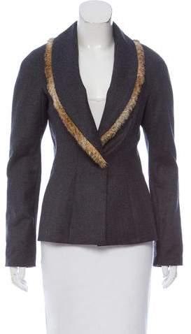 Daslu Fur-Trimmed Wool Jacket
