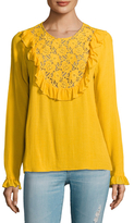 Plenty by Tracy Reese Lace Insert Blouse