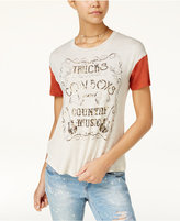Rebellious One Juniors' Country Music Graphic T-Shirt