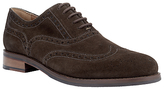 John Lewis Bentley Suede Lace-up Brogues, Coffee