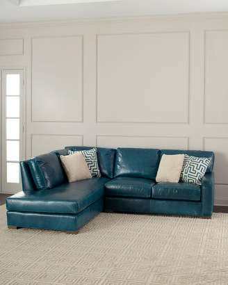 """Shariah Leather Left-Chaise Sectional 102"""""""
