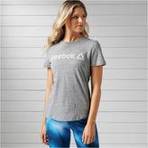 Reebok Long Sleeve Crew Neck T-Shirt-Womens