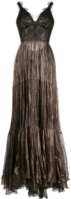 Maria Lucia Hohan Kendi pleated-detail long dress