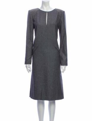 Thomas Wylde Scoop Neck Midi Length Dress Grey
