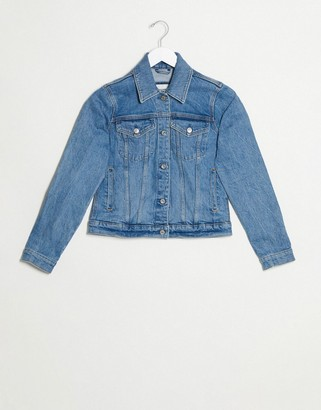Abercrombie & Fitch class denim jacket in blue