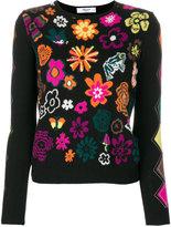 Blugirl floral intarsia sweater