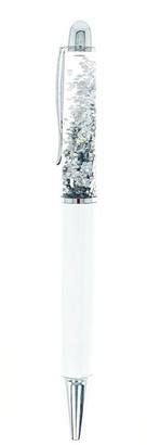 Beacon Craft Ballpoint Pen Floating Glitter - White