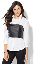 New York & Co. 7th Avenue Design Studio - Madison Stretch Shirt - Corset-Overlay