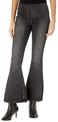 Rock and Roll Cowgirl High-Rise Pull-On Flare in Charcoal Wash W1P6102 (Charcoal Wash) Women's Jeans