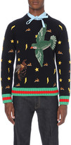 Gucci Hand-embroidered wool jumper