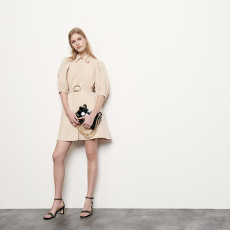 Sandro Coat dress in cotton and linen