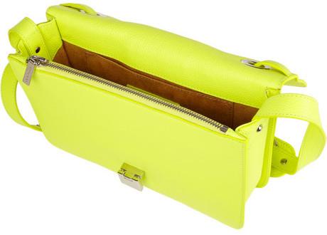 Jimmy Choo Rebel neon textured-leather shoulder bag