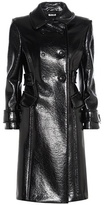 Miu Miu Faux glossed-leather coat