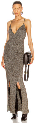 Ganni Glitter Knit Dress in Mole | FWRD
